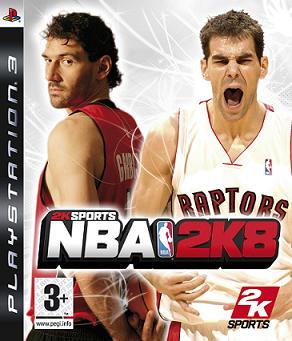 Caratula de NBA 2K8 para PlayStation 3