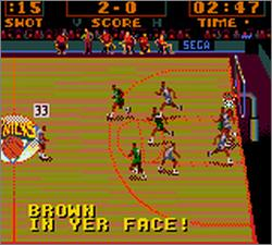 Pantallazo de NBA Action para Gamegear