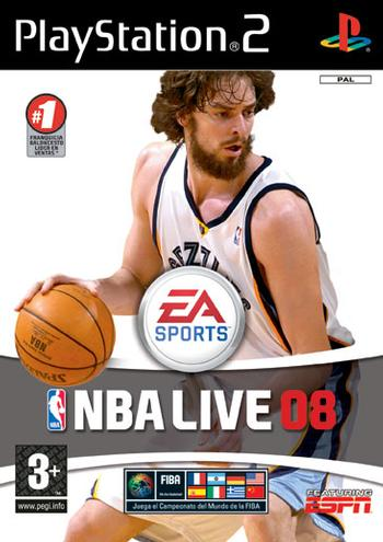 Caratula de NBA Live 08 para PlayStation 2