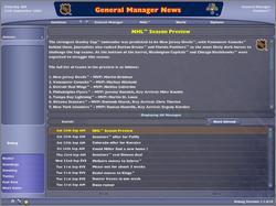 Pantallazo de NHL: Eastside Hockey Manager 2005 para PC