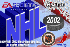 Pantallazo de NHL 2002 para Game Boy Advance