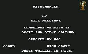 Pantallazo de Necromancer para Commodore 64