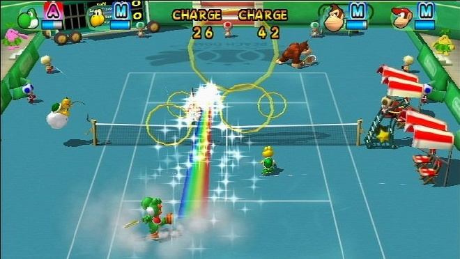 Pantallazo de New Play Control: Mario Power Tennis para Wii