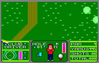 Pantallazo de Nick Faldo Plays The Open para Amstrad CPC
