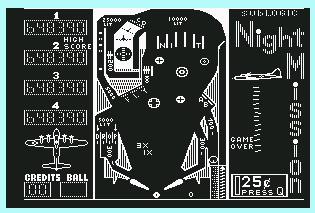 Pantallazo de Night Mission Pinball para Commodore 64