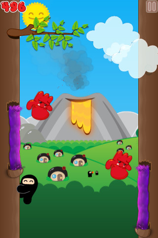 Pantallazo de Ninjatown: Trees of Doom! para Iphone