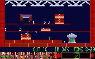 Pantallazo de Oh-No! More Lemmings para Atari ST