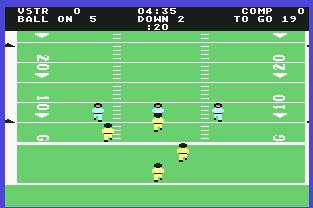 Pantallazo de On Field Football para Commodore 64