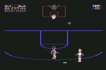 Pantallazo de One on One para Commodore 64