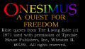 Pantallazo nº 67370 de Onesimus: A quest for Freedom (320 x 200)