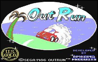 Pantallazo de Out Run para Commodore 64