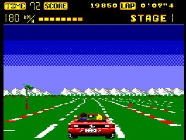 Pantallazo de Out Run para Amstrad CPC