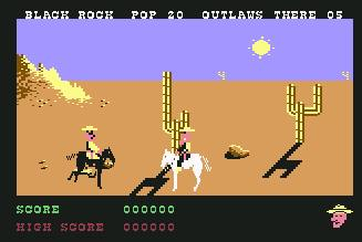 Pantallazo de Outlaws para Commodore 64
