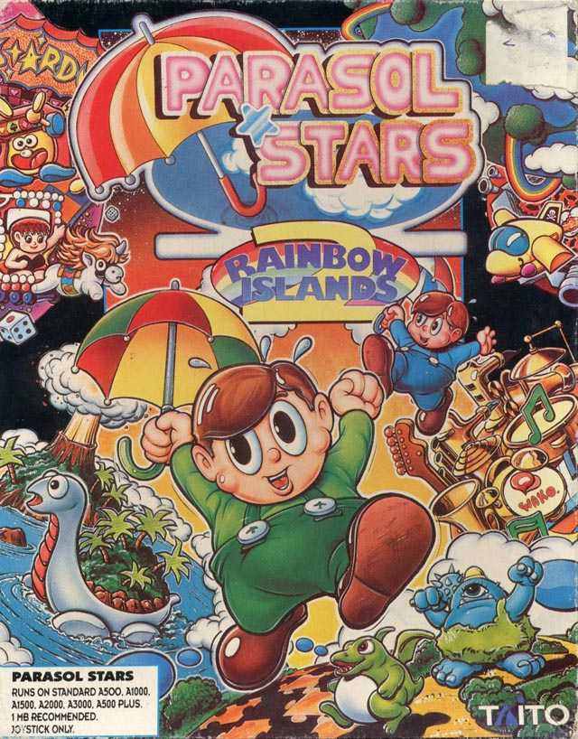 Caratula de Parasol Stars: The Story Of Rainbow Islands II para Amiga