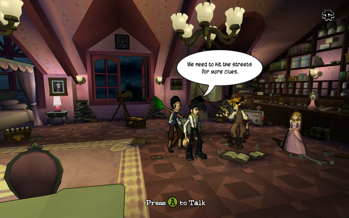 Pantallazo de Penny Arcade Adventures - On the Rain-Slick Precipice of Darkness: Episode One (Xbox Live Arcade) para Xbox 360