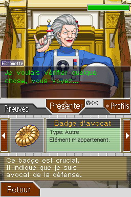 Pantallazo de Phoenix Wright : Ace Attorney Justice For All para Nintendo DS