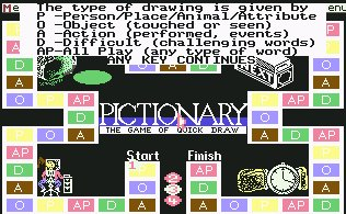 Pantallazo de Pictionary - The Game of Quick Draw para Commodore 64