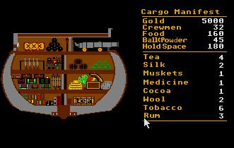 Pantallazo de Pirates of the Barbary Coast para Atari ST