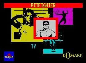 Pantallazo de Pit-Fighter para Spectrum