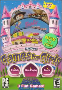 Caratula de PlayZone! Games for Girls [2004] para PC