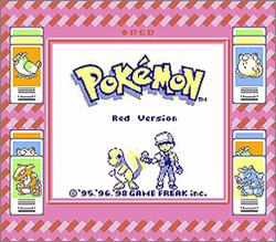 Pantallazo de Pokémon: Red Version para Game Boy