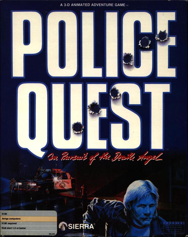 Caratula de Police Quest: In Pursuit Of The Death Angel para Amiga