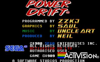 Pantallazo de Power Drift para Atari ST