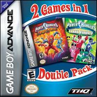 Caratula de Power Rangers Double Pack: Ninja Storm & Time Force para Game Boy Advance