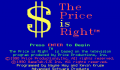 Pantallazo nº 63652 de Price is Right, The (320 x 200)