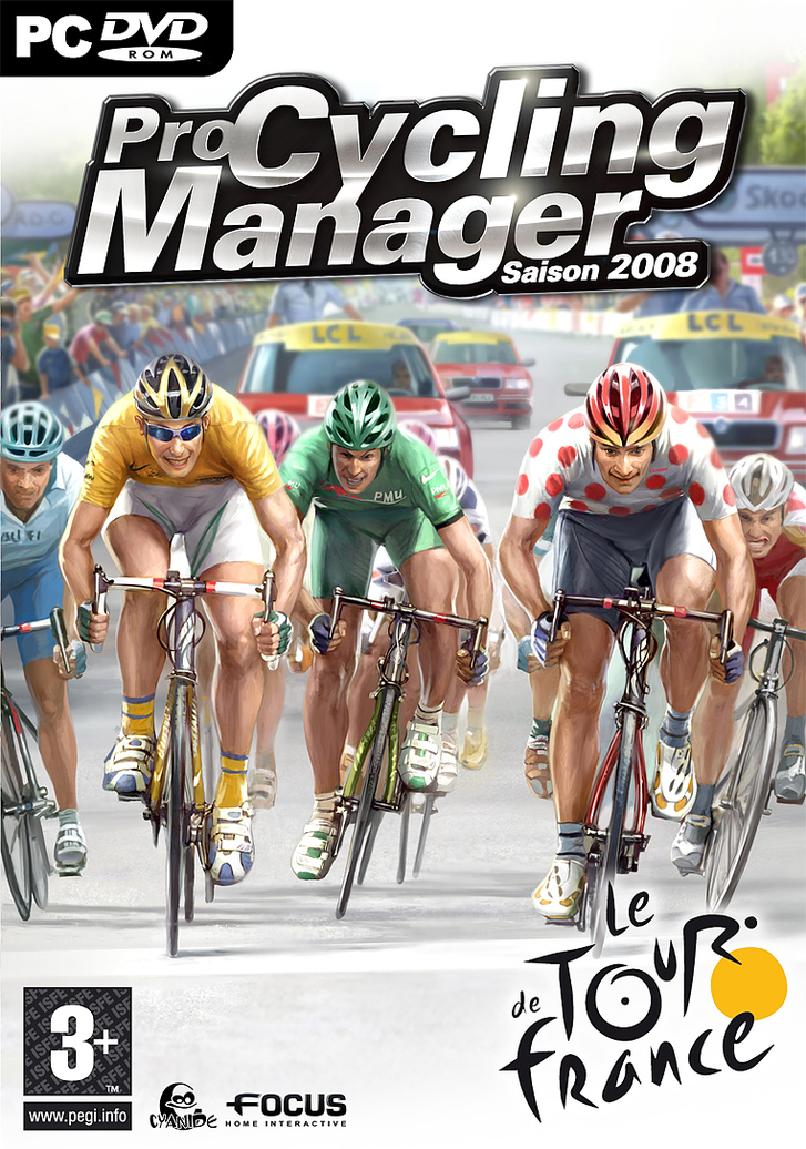 Caratula de Pro Cycling Manager 2008 para PC