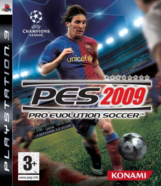 Caratula de Pro Evolution Soccer 2009 para PlayStation 3