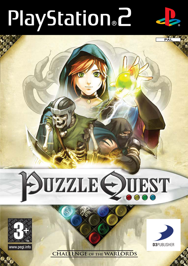 Caratula de Puzzle Quest: Challenge of the Warlords para PlayStation 2
