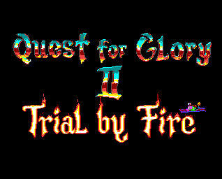 Pantallazo de Quest For Glory II: Trial By Fire para Amiga