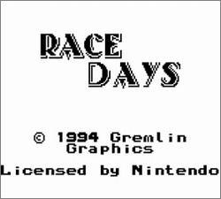 Pantallazo de Race Days para Game Boy