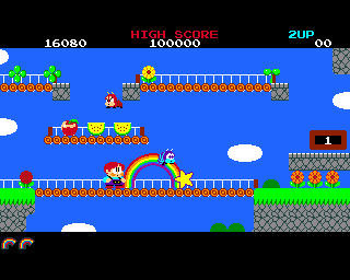 Pantallazo de Rainbow Islands para Amiga