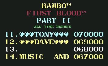 Pantallazo de Rambo First Blood Part II para Commodore 64