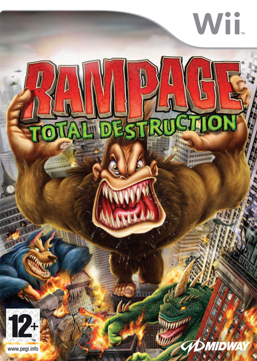 Caratula de Rampage: Total Destruction para Wii