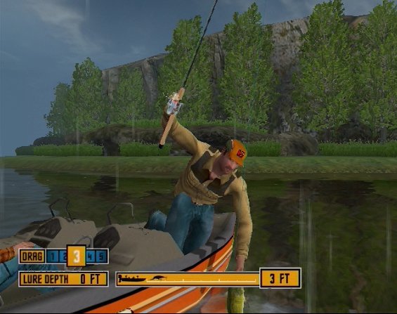 Pantallazo de Rapala Tournament Fishing para Wii