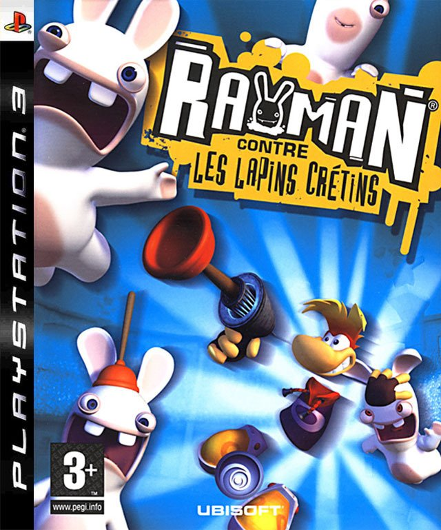 Caratula de Rayman Raving Rabbids para PlayStation 3