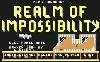 Pantallazo de Realm of Impossibility para Commodore 64