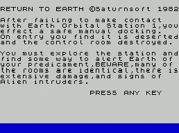 Pantallazo de Return to Earth para Spectrum