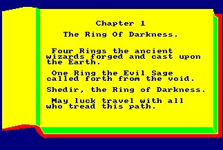 Pantallazo de Ring Of Darkness, The para Amstrad CPC