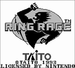 Pantallazo de Ring Rage para Game Boy