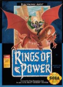 Caratula de Rings of Power para Sega Megadrive