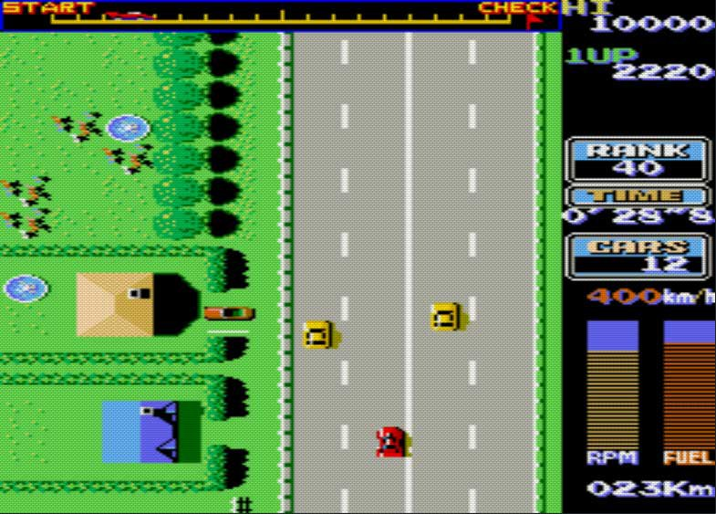 Pantallazo de Road Fighter para M.A.M.E.