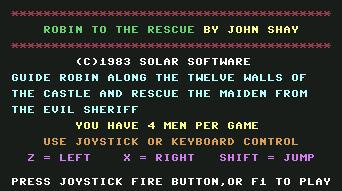 Pantallazo de Robin to the Rescue para Commodore 64