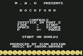 Pantallazo de Rockford para Commodore 64