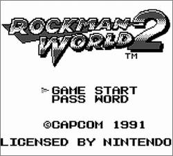 Pantallazo de Rockman World 2 para Game Boy