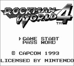 Pantallazo de Rockman World 4 para Game Boy