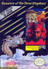 Caratula de Romance of the Three Kingdoms para Nintendo (NES)